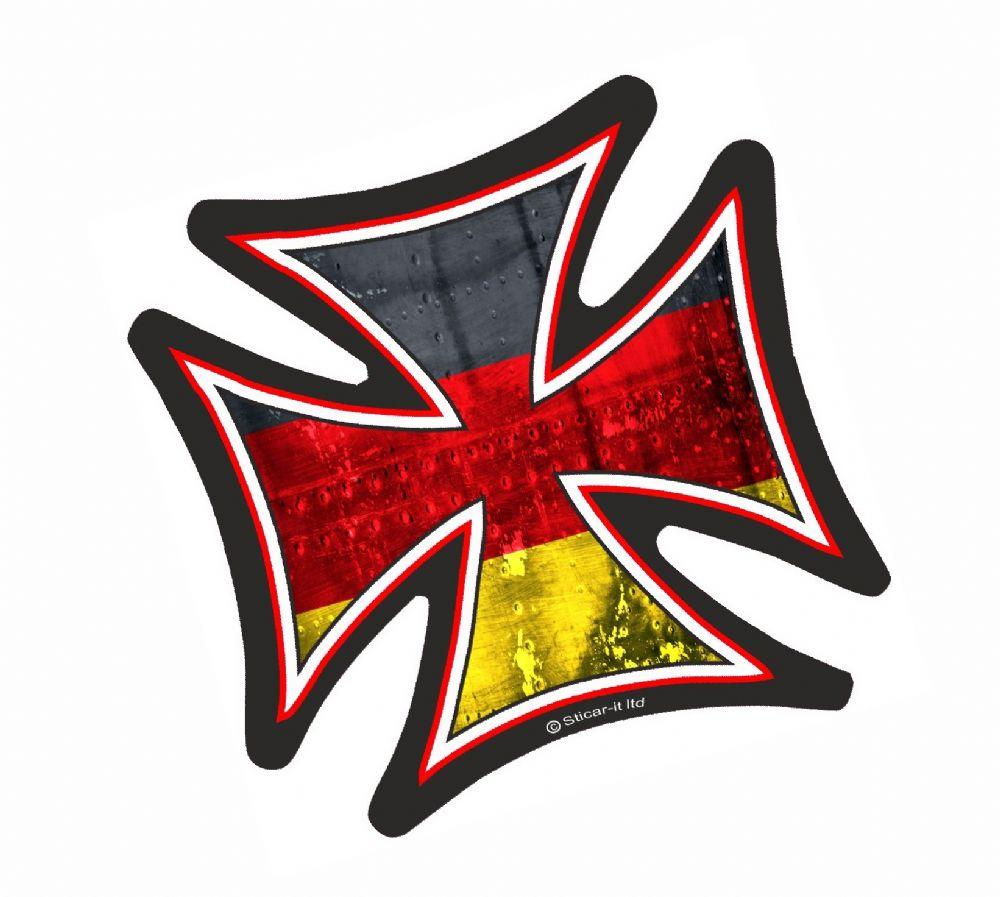 IRON CROSS With Germany German Flag Motif External Vinyl